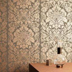 Gloriana Copper Wallpaper by Graham and Brown