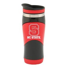 online retailer 88bb5 d1297 NC State Wolfpack Red and Black 16oz Spirit Travel Tumbler