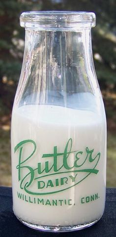 Butler Dairy Half Pint Milk and Cream Bottle from Willimantic, Conn. $25