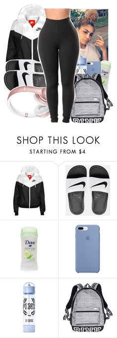 """""""-WINDBREAKER CONTEST-"""" by bxtchslayy ❤ liked on Polyvore featuring NIKE, Ultimate, Victoria's Secret and Beats by Dr. Dre"""