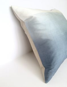Silk & Linen Ombre Square Cotswold Cushion - Angle