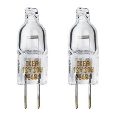 IKEA HALOGEN - Bulb G4 standard / 2 pack - 20 W/12 V Ikea http://www.amazon.co.uk/dp/B00GPQR34Y/ref=cm_sw_r_pi_dp_xyTgwb1KWRRPZ
