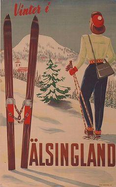 Poster: Sweden - Vinter i Hälsingland Sverige Artist: Bengt Brattström