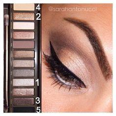 381 vind-ik-leuks, 14 reacties - Makeup By Sarah💄 (@sarahantonucci) op Instagram: '#tbt! Super quick/easy naked 2 palette look I did a few weeks ago. 1.) inner lid. 2.) middle lid.…'