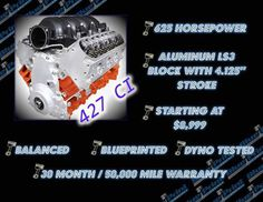 Blueprint engines bpls3640 crate engine blueprint ls series if your ls powered vehicles engine is getting tired or just doesnt have malvernweather Image collections