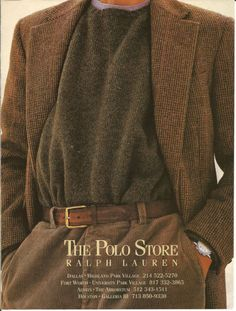 Old Ralph Lauren Adverts — 1992 Looks Dark, Looks Cool, Polo Store, 90s Fashion, Vintage Fashion, Irish Fashion, Preppy Fashion, Style Masculin, Ralph Lauren Style