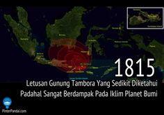 """Letusan Gunung Tambora Tahun 1815 Letusan gunung Tambora di Indonesia pada tahun 1815 sedikit diketahui. Namun kejadian tersebut adalah letusan yang paling kuat pada catatan sejarah zaman modern. Letusan ini berkekuatan seratus kali lebih kuat dari Gunung St Helens di Amerika, yang membuat """"tahun tanpa musim panas"""", pada tahun 1816 di Bumi.     function callBackForSmaato(status){   if(status =="""