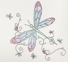 Whimsical dragonfly drawings - photo#18