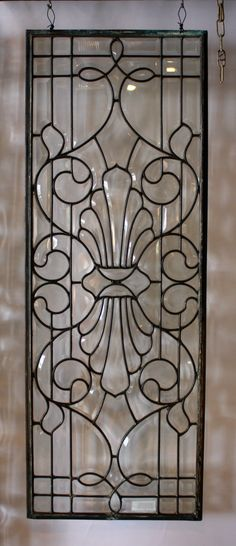 "Victorian Beveled Leaded Glass Window 45"". They don't make them like this any more!"