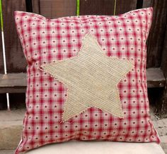 Christmas Star Pillow Cover with Rustic by SummeryCreations, $22.00