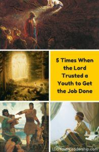 Read this great post about examples from the scriptures where the Lord trusted a youth to get something done.