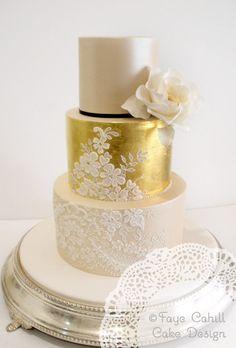 Beautiful Gold Cake | Faye Cahill Cake Design