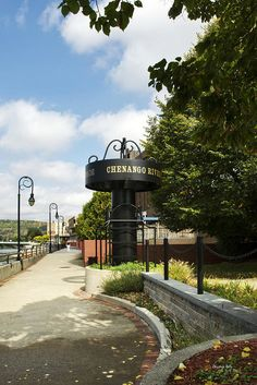 Binghamton Ny River Walk Along The Chenango River Print by Christina Rollo. All prints are professionally printed, packaged, and shipped within 3 - 4 business days. Choose from multiple sizes and hundreds of frame and mat options.