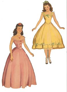 Miss Missy Paper Dolls: Gone with the Wind* For lots of free paper dolls International Paper Doll Society #ArielleGabriel #ArtrA thanks to Pinterest paper doll collectors for sharing *