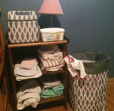 Thirty-One works well in nurseries Thirty One Baby, Thirty One Gifts, First Baby, Laundry Basket, Baby Love, Wicker, Nursery, Organization, Table