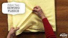 In this sewing tutorial, you'll learn sewing tips on how to sew fleece. http://www.nationalsewingcircle.com/video/fabric-tips-sewing-fleece-008031/?utm_content=buffer9250c&utm_medium=organic&utm_source=pinterest&utm_campaign=A220 #LetsSew