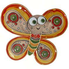 keramický motýl - obrázek na zeď