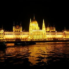 Parliament on the Danube in Budapest.