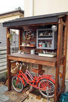 ガーデン収納+自転車置場