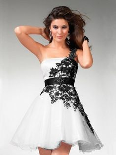 A-line/Princess En Axel Organza rmlös Applique Kort/Mini Dresses