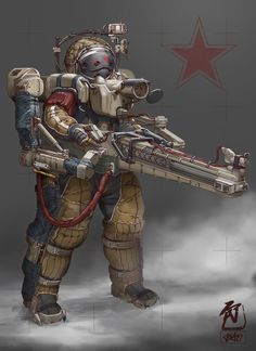 ArtStation - Frontier Red: Heavy Sniper, William Bao