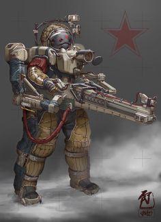 ArtStation - Frontier Red: Heavy Sniper, William Bao