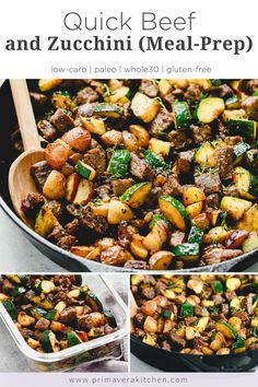Beef and Zucchini makes a quick evening meal or a great meal prep solution. Full of flavor and nutrition, it is ready is about 30 minutes. Easy Healthy Meal Prep, Easy Healthy Recipes, Healthy Cooking, 30 Min Healthy Meals, Healthy Dinner Meals, Healthy Food, Paleo Meal Prep, Quick Weeknight Meals, 30 Minute Meals