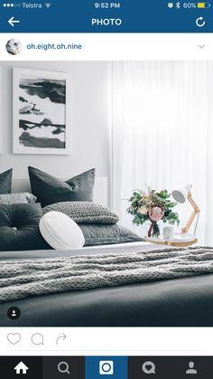 H Attic Bedrooms, Furniture Decor, Sweet Home, Bedroom Decor, Interior Ideas, Bedding, House, Decorating, Home Decor