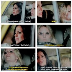 """What made you choose yellow"" #OnceUponATime"