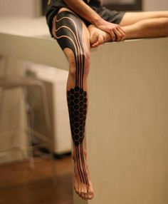 Black solid tattoo
