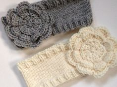 finished: headbands for custom orders - Jenn Likes Yarn -- link to pattern in comments. Headband Pattern, Knitted Headband, Knitted Hats, Crochet Headbands, Baby Headbands, Baby Knitting Patterns, Loom Knitting, Crochet Patterns, Knit Crochet