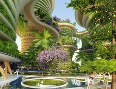 The eco-friendly tower blocks that produce MORE energy than they use. In the future we could all work and living in buildings with their very own ecosystems designed to generate more energy than they use. The towering 'Hyperion' buildings will be built in New Delhi India and are expected to be completed by 2020. by the_bioguide