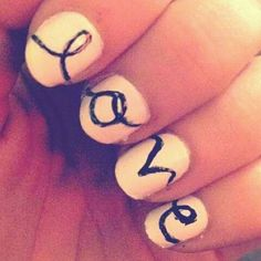 Love - Could totally do this with a sharpie and just put a top coat over it!