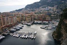 Monaco Marina from above