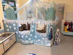 Snow Castle, Frozen Castle, Frozen Birthday Party, Frozen Party, Winter Fun, Winter Theme, Toy Workshop, Frozen Crafts, Penguins And Polar Bears