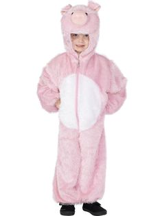 Kids Pig Costume If you want a cute animal costume for your child then the Pig Costume is an excellent choice. Kids will love wearing this fun pig costume. They're soft, cuddly and cosy. This Kids Pig Costume is sure to grab attention. Fancy Dress Animals, Childrens Fancy Dress, Fancy Dress For Kids, Kids Pig Costume, Pig Costumes, Book Day Costumes, Animal Costumes, Nativity Costumes, Carnival