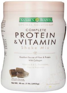 Nature's Bounty Protein Shake Mix, Decadent Chocolate, 16 Ounce. Nature's Bounty Optimal Solutions Chocolate Shake is an excellent source of fiber, at 6 grams per serving, and promotes intestinal and colon health. Bounty Chocolate, Decadent Chocolate, Chocolate Shake, Shakeology Substitute, Healthy Drinks, Get Healthy, Healthy Style, Healthy Food, Healthy Eating