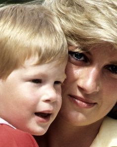 Princess Diana and little Prince Harry, I think.