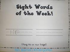 Mrs. Bremer's Kindergarten: Word Work Centre