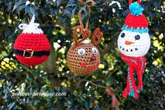 Free Crochet Pattern: Christmas Tree Ornaments