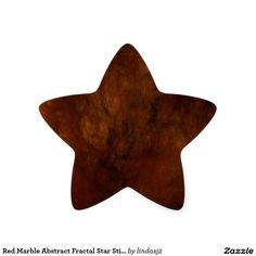 Red Marble Abstract Fractal Star Sticker