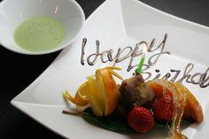 誕生日デザート  @北浜の日本料理の名店マグノリア