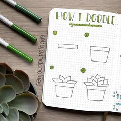27 Easy Potted Plant Doodles To Bring New Life To Your Bullet Journal Bullet Journal School, Bullet Journal Banner, Bullet Journal Writing, Bullet Journal Aesthetic, Bullet Journal Ideas Pages, Bullet Journal Inspiration, Doodle Art For Beginners, Easy Doodle Art, My Doodle