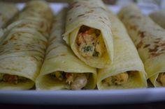 Panquecas com Frango Cozido da Vapza | Metidos a Chef