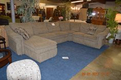 LA-Z Boy Sectional w/ Recliner, Chaise and Hide a bed