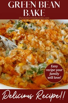 Side Dishes Easy, Side Dish Recipes, Dinner Recipes, Easy Baking Recipes, Cooking Recipes, Healthy Recipes, Casserole Dishes, Casserole Recipes, Bean Casserole