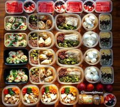 Few weeks ago:  1. Egg egg whites spinach ham and colored pepper muffins  2. Oatmeal with PB2 chia seeds and raisins  3. Grilled lemon/lime chicken thighs with red quinoa and brussel sprouts  4. Tilapia with red quinoa and broccoli  5. Spinach peppers cucumbers and tomato salad with chicken and hummus  5. Hardboiled eggs  6. Greek yogurt with blueberries strawberries and Chia seeds  7. Watermelon  8. Peaches  9. Peanuts  #mealprepsunday  #foodporn #mealplan #mealprep #foodgasm #yummy #yum…