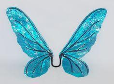 Selene Fairy Wings Blue Iridescent Cellophane Renaissance Fantasy Costume Wings. $65.00, via Etsy.