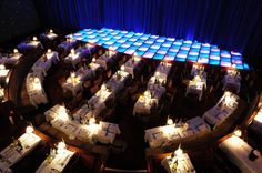View above La Nouvelle dinner space and stage