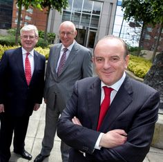 Eamon Gilmore, Gerry Davis and Nigel Heneghan at the PR Awards for Excellence, 2013